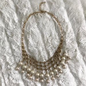 J. Crew Cascading Pearl Necklace